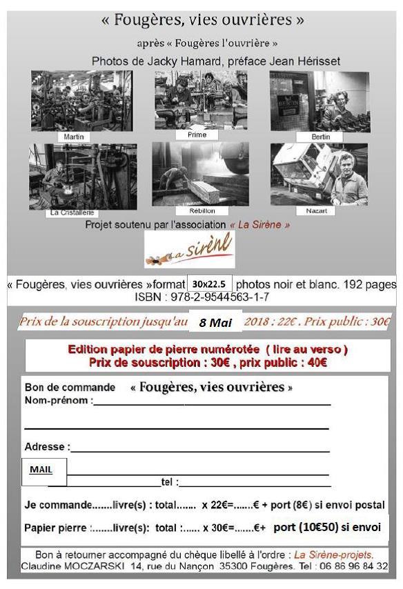 Report souscription livre photos